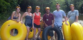 group cave tubing