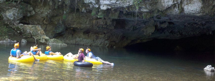 guide belize cave tubing group