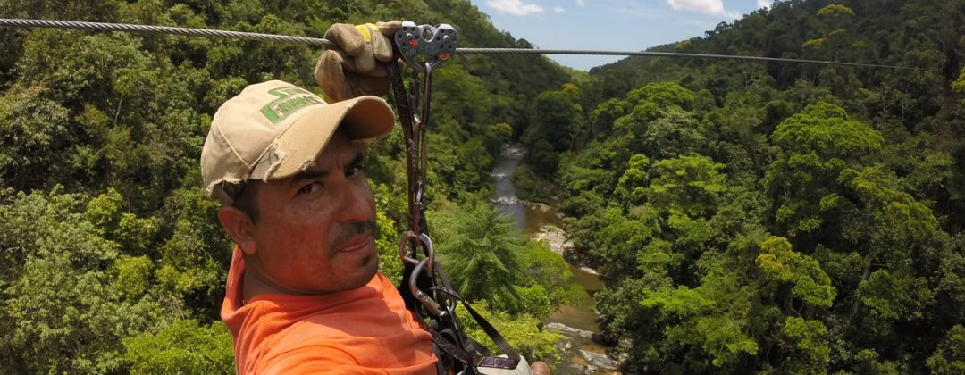 Gerson Zip Lining over a river